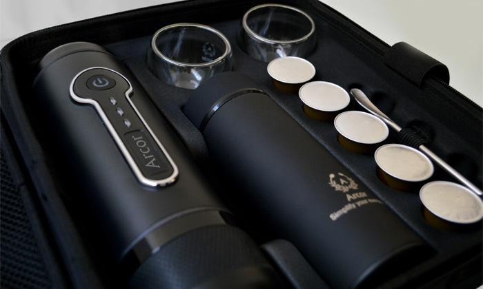 3 מכונת קפה ניידת ARCOR עם ערכת קפה ו-10 קפסולות