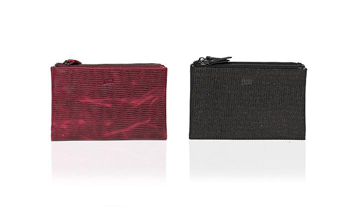 2 ארנק עור נאפה Just בצבע אדום או שחור לבחירה