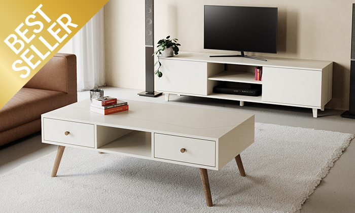 4 מזנון טלוויזיה ניס ושולחן סלון נאפולי