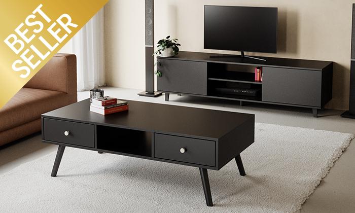 5 מזנון טלוויזיה ניס ושולחן סלון נאפולי