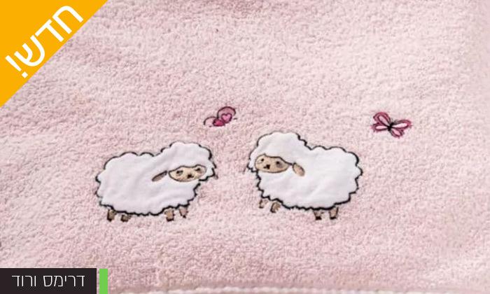 4 מגבת רחצה לתינוקות וילדים 100% כותנה של ורדינון