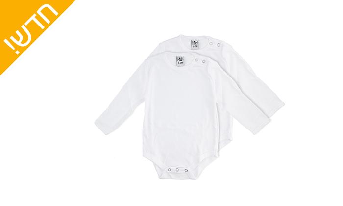 4 מארז 6 בגדי גוף מפלנל לתינוקות