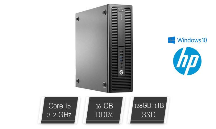 2 מחשב נייח מחודש HP דגם 800 G2 מסדרתEliteDesk עם זיכרון 16GB ומעבד i5