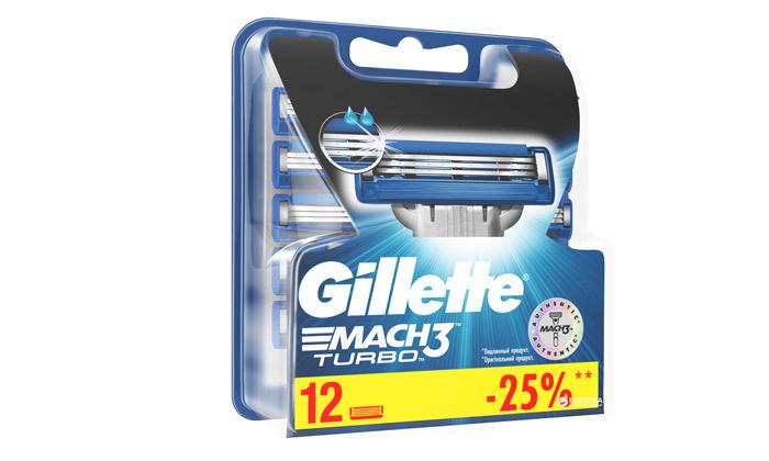 3 מארז 24 סכיני גילוח ג'ילט Gillette Mach 3 TURBO