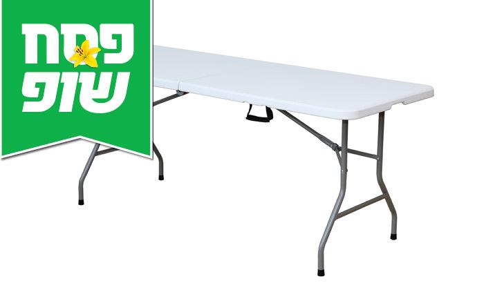 """2 שולחן מתקפל באורך 180 ס""""מ"""