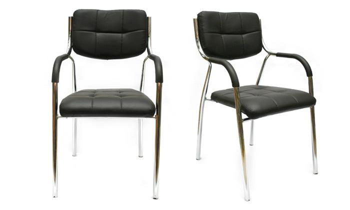 2 זוג כיסאות אורח למשרד עם ידיות מבית ROSSO ITALY