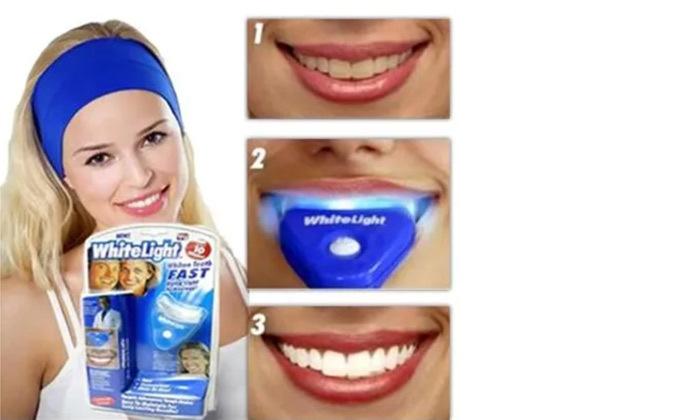 2 ערכה ביתית לסיוע בהלבנת שיניים White Light