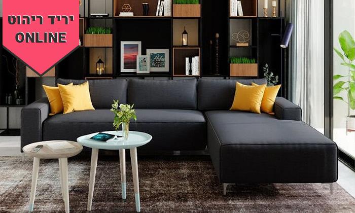 3 ספה פינתית House Design דגם הוליווד - צבעים לבחירה