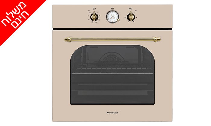 3 תנור אפיה בנוי 7 תוכניות 65 ליטר Normande דגם NR-6510