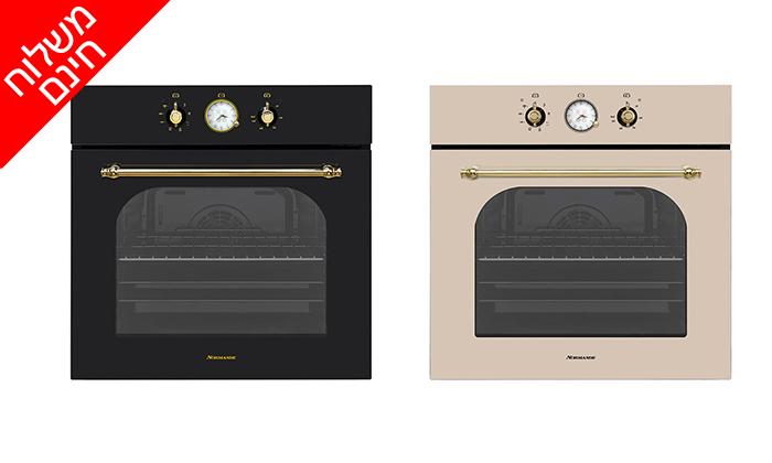 2 תנור אפיה בנוי 7 תוכניות 65 ליטר Normande דגם NR-6510