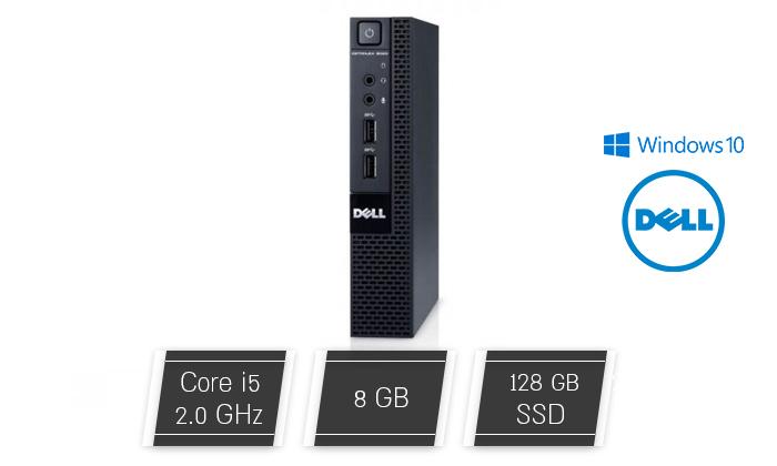 2 מחשב נייח מחודש DELL דגם 3020M מסדרת OptiPlex עם זיכרון 8GB ומעבד i5