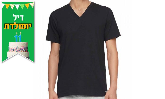 3 מארז 3 חולצות טי שירט לגברים קלווין קלייןCalvinKlein