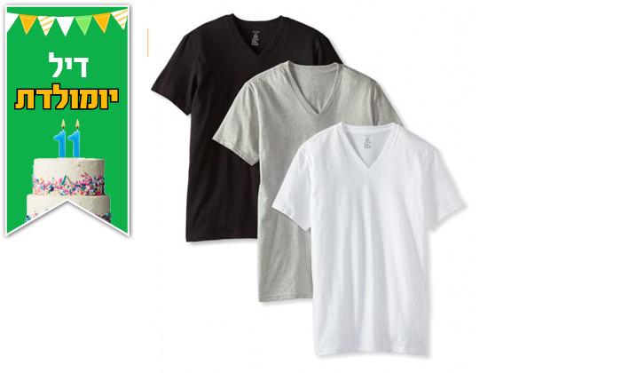 2 מארז 3 חולצות טי שירט לגברים קלווין קלייןCalvinKlein