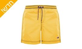 בגד ים בצבע צהוב לגבר