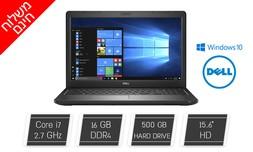 """מחשב נייד DELL עם מסך """"15.6"""