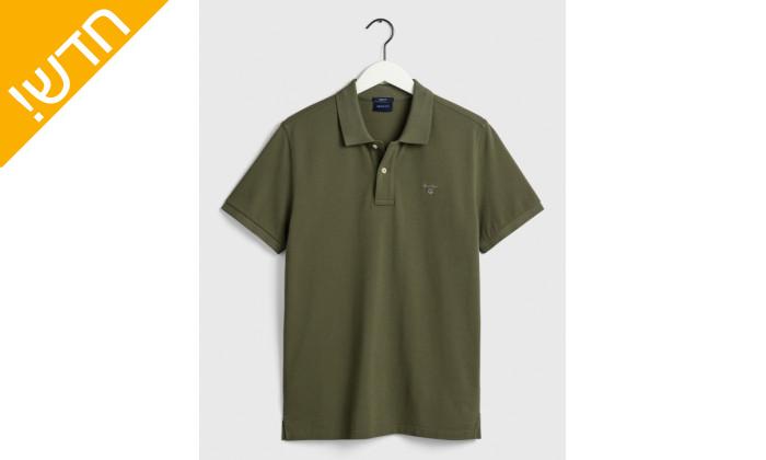 6 חולצת פולו ירוקה לגבר GANT