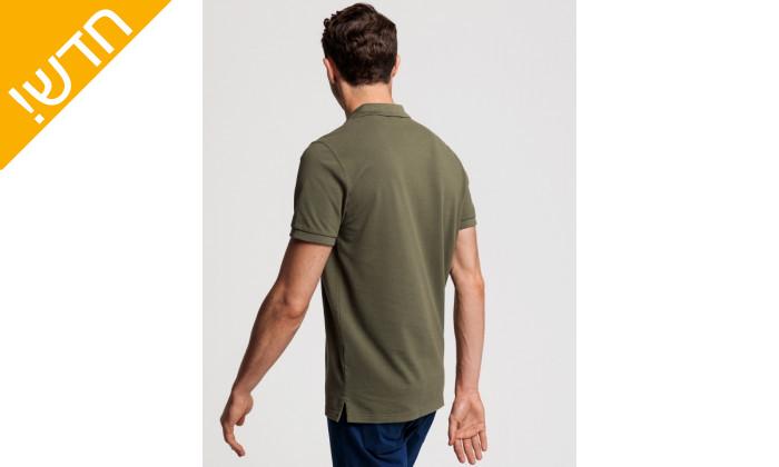 3 חולצת פולו ירוקה לגבר GANT