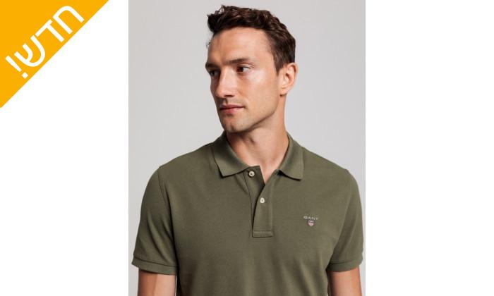 4 חולצת פולו ירוקה לגבר GANT