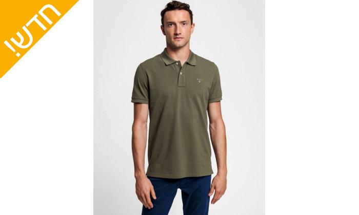 2 חולצת פולו ירוקה לגבר GANT