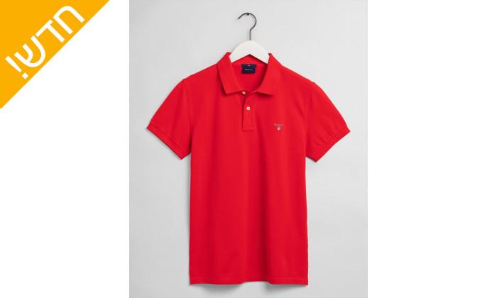 2 חולצת פולו אדומה לגבר GANT