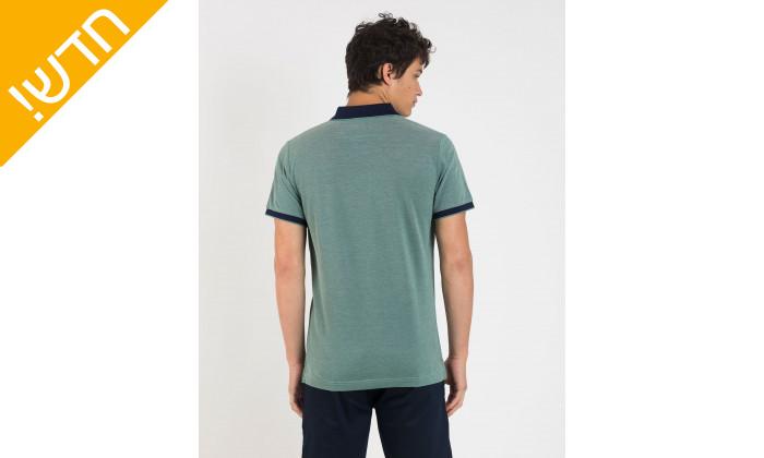 4 חולצת פולו טורקיז לגבר GANT