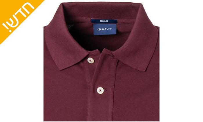 4 חולצת פולו שרוול ארוך לגבר GANT