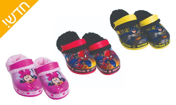 2 זוג כפכפי גומי ופרווה ממותגים ANONIMA לילדים וילדות