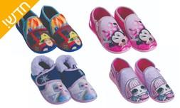 2 זוגות נעלי בית לילדים וילדות