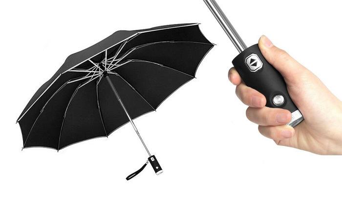 2 מטרייה אוטומטית עם פנס LED מובנה