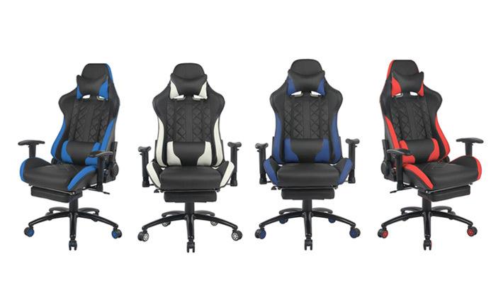 """7 ד""""ר גב: כיסא גיימינג דגם XP4 עם הדום נשלף"""