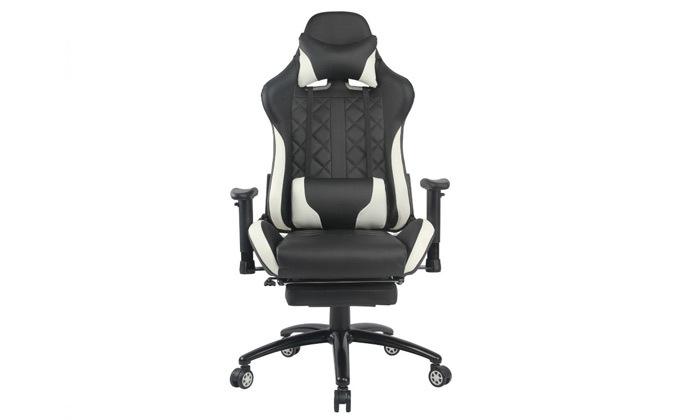 """8 ד""""ר גב: כיסא גיימינג דגם XP4 עם הדום נשלף"""