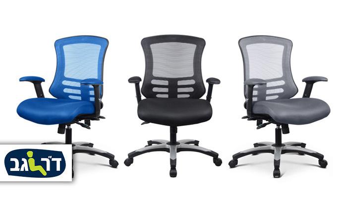 """2 כיסא משרדי ד""""ר גב דגם FLEX"""