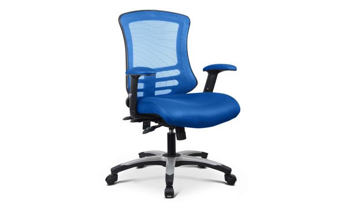 """4 כיסא משרדי ד""""ר גב דגם FLEX"""