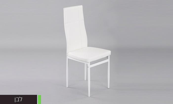 5 כיסאות אוכלבריפוד דמוי עור Homax