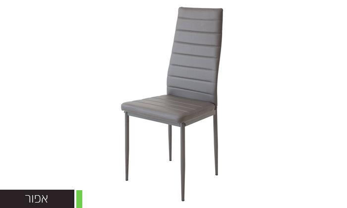 6 כיסאות אוכלבריפוד דמוי עור Homax