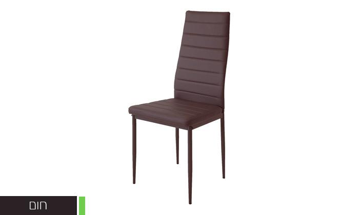 7 כיסאות אוכלבריפוד דמוי עור Homax