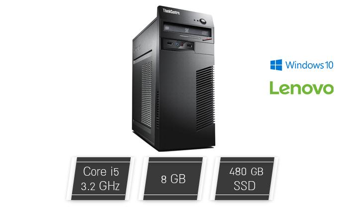 2 מחשב נייח לנובו Lenovo עם מעבד i5