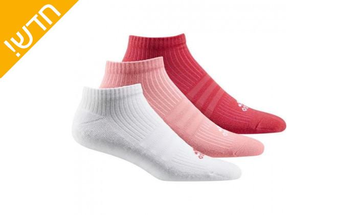 2 מארז 3 זוגות גרבי ספורט אדידס לנשים Adidas