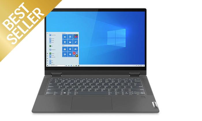 """6 מחשב נייד מעודפים Lenovo דגם FLEX 14 עם מסך מגע """"14, זיכרון 8GB ומעבד i5"""