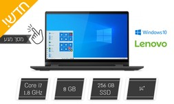 """לפטופ Lenovo עם מסך מגע """"14"""