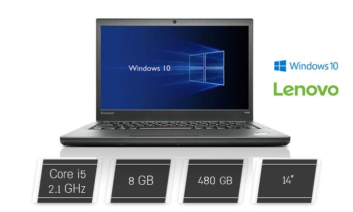 """2 מחשב נייד מחודש Lenovo דגםT440מסדרתThinkPad עם מסך """"14, זיכרון 8GB ומעבד i5"""