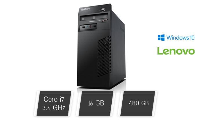 2 מחשב נייח מחודש Lenovo/DELL עם זיכרון 16GB ומעבד i7