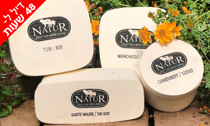 4 ל-48 שעות: מארז גבינות בוטיק פרימיום ממחלבת NATUR במשלוח חינם
