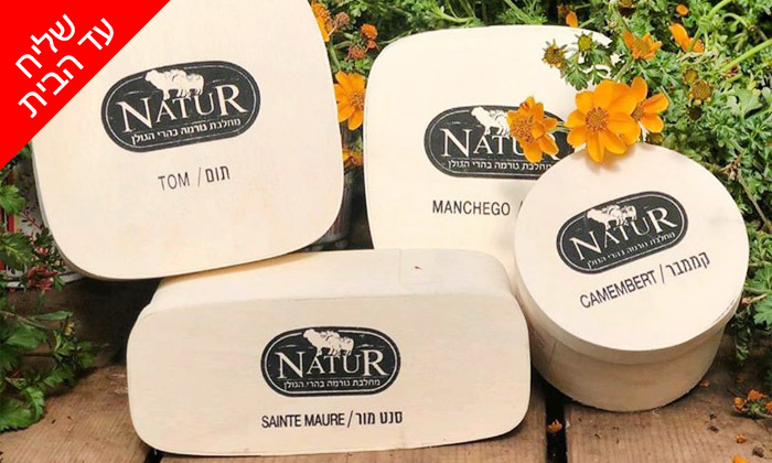 8 מארזי גבינות בוטיק ויין במשלוח למגוון מיקומים, מחלבת NATUR