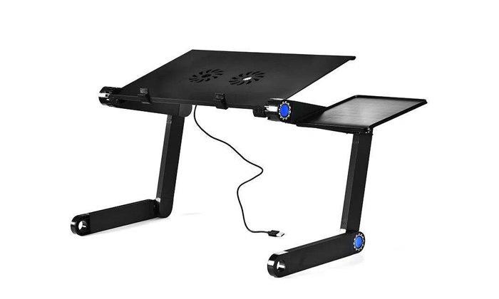 3 מעמד מתכוונן למחשב נייד, כולל משטח לעכבר ומערכת קירור