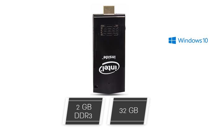 2 מחשב נייח מיני חדש עם מעבד Intel Atom וזיכרון 2GB - משלוח חינם
