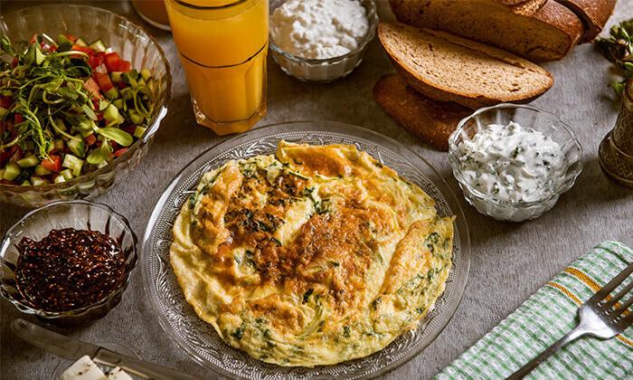 2 ארוחת בוקר בופה במלון Bay View חיפה