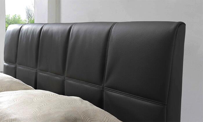 9 שמרת הזורע: מיטה זוגית מרופדת עם מגירת אחסון