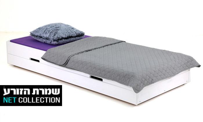 2 שמרת הזורע: מיטת ילדים מעץ מלא עם ארגז מצעים