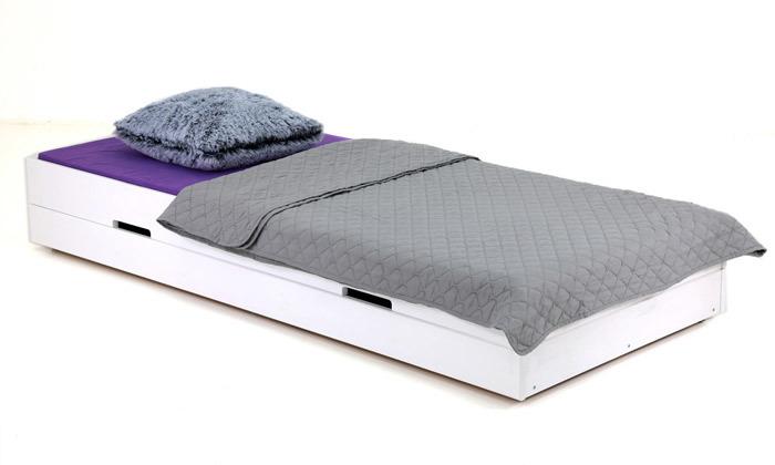 7 שמרת הזורע: מיטת ילדים מעץ מלא עם ארגז מצעים